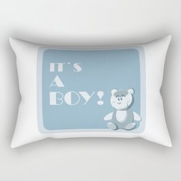 it`s a boy!  Rectangular Pillow