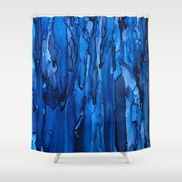 Blue Rain Shower Curtain