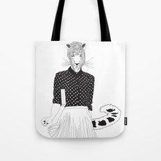 Miss Snow Leopard Tote Bag