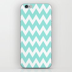 Chevron 5 Tiffany Blue iPhone & iPod Skin