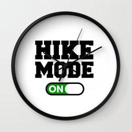 Hike Mode Wall Clock