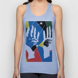 Mystic Hands Vintage Graphic Design Art Decoration Unisex Tank Top