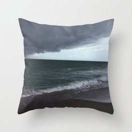 The Edge of the Weather Throw Pillow