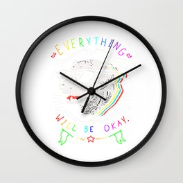 everything dog shirt Wall Clock