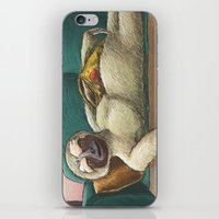 sloth iPhone & iPod Skins featuring Sloth by Ken Coleman