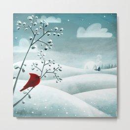 Cardinal by Friztin Metal Print
