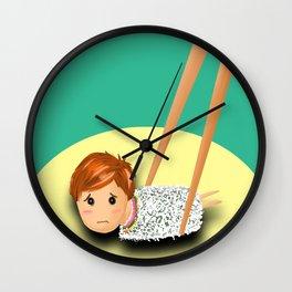 Sushi boy Wall Clock