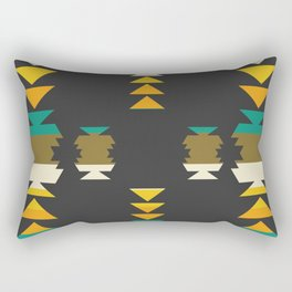Bright shapes in the dark Rectangular Pillow