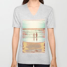 Brothers on the beach Unisex V-Neck