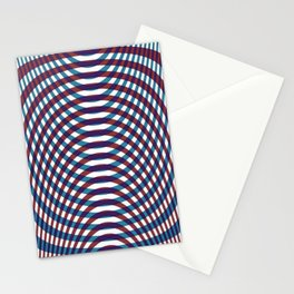 Blue and red stripes tartan Stationery Cards