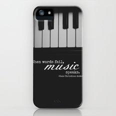 Music Speaks iPhone (5, 5s) Slim Case