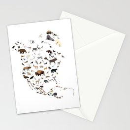 Wild North America map Stationery Cards