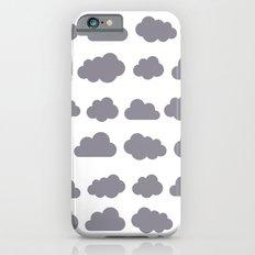Grey clouds winter time art iPhone 6s Slim Case