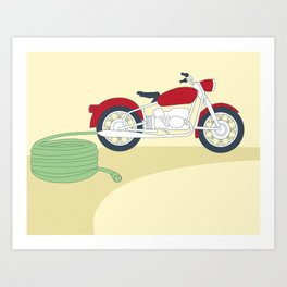 Electric Motorcycle Art Print