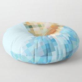 Van Gogh Pixel Art Floor Pillow