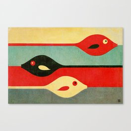 Three Fish in My Mind Canvas Print