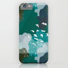 M+M Emerald Forest Bird's Eye View by Friztin iPhone Case