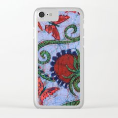 Floral Batik Clear iPhone Case