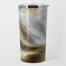 Valley of Aosta, Snowstorm, Avalanche and Thunderstorm - Joseph Mallord William Turner Travel Mug