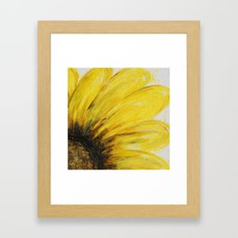 Big Yellow Daisy Framed Art Print