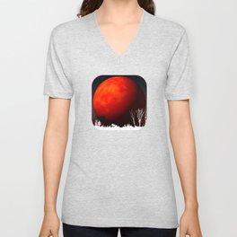 Blood Orange Moon Unisex V-Neck