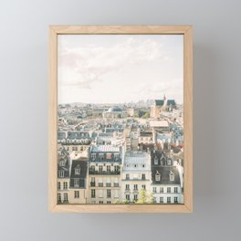 Parisian rooftops on film | Paris city views | Fine Art Travel Photography Framed Mini Art Print