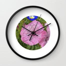 mallow bloom VI Wall Clock