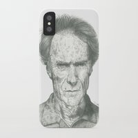 clint eastwood iPhone & iPod Cases featuring Clint Eastwood by theMAINsketch