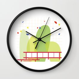 architecture - mies van der rohe Wall Clock