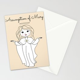 Assumption of Mary - Mary on Heaven - Our Lady of the Navigators Stationery Cards