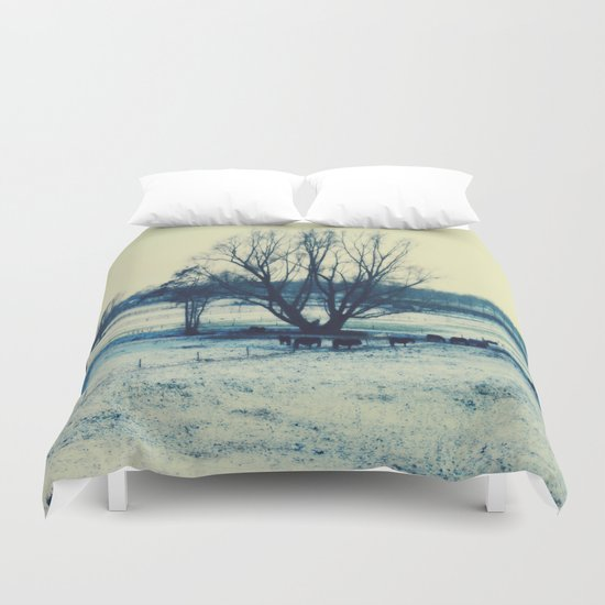 Winter  - JUSTART © Duvet Cover