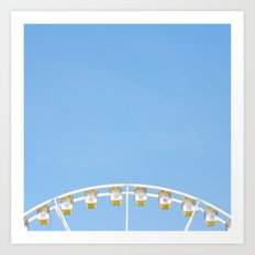 Paris Ferris Wheel Art Print