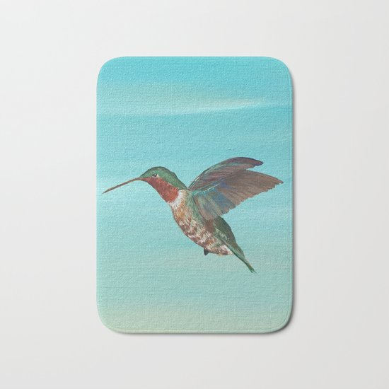 Hummingbird on the Move Bath Mat