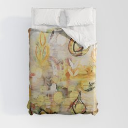 Nothing grows without love Duvet Cover