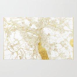 Zurich Map Gold Rug