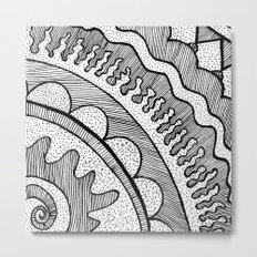 Lines & Dots Metal Print