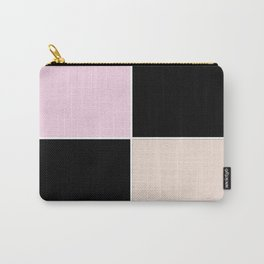 Square , black , beige , pink Carry-All Pouch