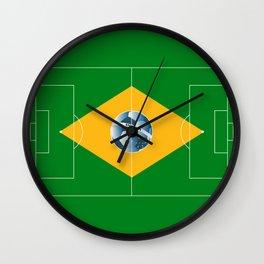 Brazil football field Wall Clock