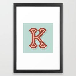 BOLD 'K' DROPCAP Framed Art Print