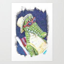 Lounging Alligator Art Print