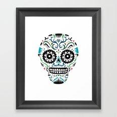 Sugar Skull SF multi -  on white Framed Art Print