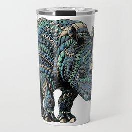 Rhinoceros (Color Version) Travel Mug