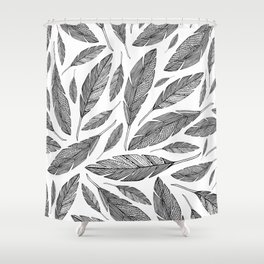 Float Like A Feather - White Shower Curtain