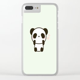 Cute panda Clear iPhone Case