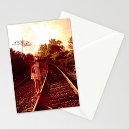 Partition the empty sky Stationery Cards