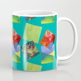 Painted Squares Jiggle - Green Coffee Mug