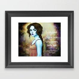 Sparrow- Only Me Framed Art Print