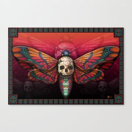 """Death colored moth"" Canvas Print"