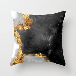 100 Starry Nebulas in Space Black and White 016 (Portrait) Throw Pillow