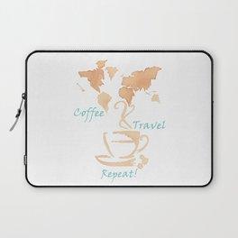 Coffee, Travel, Repeat Laptop Sleeve